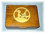 Wooden Jewel Box - Art Deco Lady