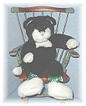 Click here to enlarge image and see more about item 1010200413: Boyds Black & White Bean Filled Kitty Kat
