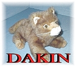Click here to enlarge image and see more about item 1010200417: DAKIN 'Conor Kitty' Tan Striped Cat
