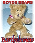 Click here to enlarge image and see more about item 1010200418: Boyds Bartholemew Teddy Bear