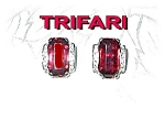 TRIFARI Clip Earrings Sterling Silver Crystal