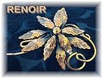 Beautiful Large Signed RENOIR Brooch