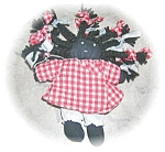 Click here to enlarge image and see more about item 1013200507: HAND MADE BLACK AMERICANA DOLL....
