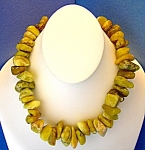 Click to view larger image of PERUVIAN OPALS Necklace Gold Amber Color (Image1)