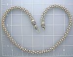 Sterling Silver 20 Inch Necklace Hook Clasp