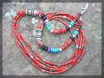 Tommy Singer Coral Turquoise Sterling Silver Necklace