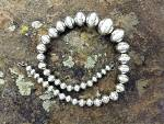 Click to view larger image of Native American Sterling Silver Beads Larry Pinto (Image2)