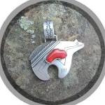 Click to view larger image of TOMMY SINGER Sterling Silver Coral Bear Pendant  (Image6)