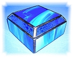 Click here to enlarge image and see more about item 1017200505: LEADED STAINED GLASS TRINKET BOX
