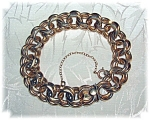Click here to enlarge image and see more about item 1017200655: 12K Gold Fill 8 Inch Chunky Double Link Bracelet
