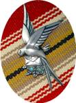 Click to view larger image of Silver Turquoise Loveletter Bird Mexico brooch (Image4)