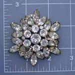 WEISS Crystal Flower Brooch Vintage