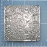 Click to view larger image of Compact Sterling Silver Zodiac Compact D.K Depose (Image2)