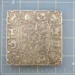 Click to view larger image of Compact Sterling Silver Zodiac Compact D.K Depose (Image3)