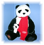 Click here to enlarge image and see more about item 1018200512: 22 INCH MOTHER AND BABY GUND PANDAS..........