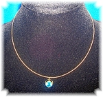 14K Yellow Gold Fexible Necklace with 2 Pendants