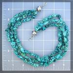 Click to view larger image of Necklace Turquoise 3 Strand Sterling Silver Bead Hook C (Image3)