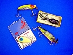 Click to view larger image of Fishing Lures Lot of 4, Creek Chub, Pico, Heddon, Hula (Image1)