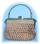 Click here to enlarge image and see more about item 1019200503: Lucite Handle Woven Beaded Bag