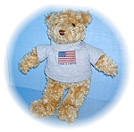 GUND TEDDY 2000, HOPE, JOY, LOVE, PEACE