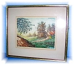 Click here to enlarge image and see more about item 1019200515: FRAMED ETCHING NUMBER 29 - PIERRE Sydney Lucas