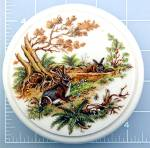 Click to view larger image of Porcelain jar relish pot with lid rabbits scene (Image3)