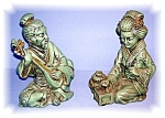 Click here to enlarge image and see more about item 1020200504: PAIR OF ORIENTAL FIGURES FROM THE 60'S