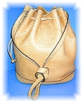Click here to enlarge image and see more about item 1020200505: Salvatore Ferragamo Bucket Bag Tan Italy