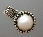 Sterling Silver Mabe Pearl hinged pendant