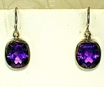 Click to view larger image of Sterling Silver Amethyst Earrings (Image1)