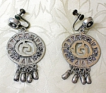 Click to view larger image of Sterling Silver Mexico Dangle Earrings GSP (Image1)