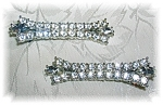 Click here to enlarge image and see more about item 1021200502: PAIR OF RHINESTONE CLIP HAIR BARRET'S........
