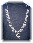 NECKLACE STERLING SILVER KOKOPELLI TURQUOISE