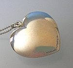 Click to view larger image of Tiffany Sterling Silver Heart Necklace  (Image1)