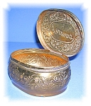 Click here to enlarge image and see more about item 102220503: Possonis Brass oval Box 1912