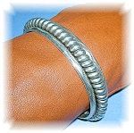 Native American Sterling Silver Cuff Signed Thae