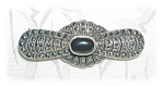 Click to view larger image of BLACK ONYX  & MARQUISITE PIN. (Image1)