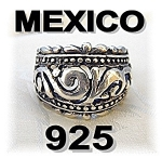 Click to view larger image of Beautiful Mexican Sterling Silver Dome Ring . . . . . (Image1)