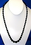 Beautiful Graduated Faceted  Black Glass Bea