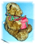 Click here to enlarge image and see more about item 1023200503: 16 INCH BROWN GUND BEAR WITH GIFT RED BOX...