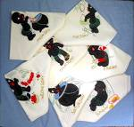 Click to view larger image of  Black Memorabilia Flour Sack  Days of  Week KitcTowels (Image8)