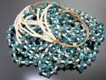 Click to view larger image of Necklace 5 Strand Turquoise Melon Shell Heishi USA (Image3)