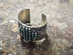 Click to view larger image of Navajo SUNSHINE REEVES Sterling Silver Turquoise Cuff (Image2)