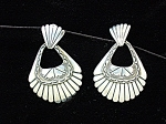 Click to view larger image of Sterling Silver Vintage Dangle pierced Earrings (Image1)