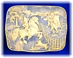 Click here to enlarge image and see more about item 1028200607: INCOLAY STONE JEWELRY BOX 'PONY BOY'