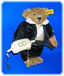 STEIFF MOHAIR JOINTED WEDDING RING BEARER BEAR 8 INCHES