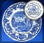 Click here to enlarge image and see more about item 1028201016: Wedgwood Blue ROYAL HOMES OF BRITAIN Dinner Plate