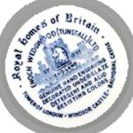 Click to view larger image of Wedgwood Blue ROYAL HOMES OF BRITAIN Dinner Plate (Image2)