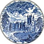 Click to view larger image of Wedgwood Blue ROYAL HOMES OF BRITAIN Dinner Plate (Image3)