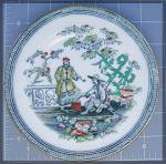 Click here to enlarge image and see more about item 1029200509: Oriental Chinoiserie B & H Plate